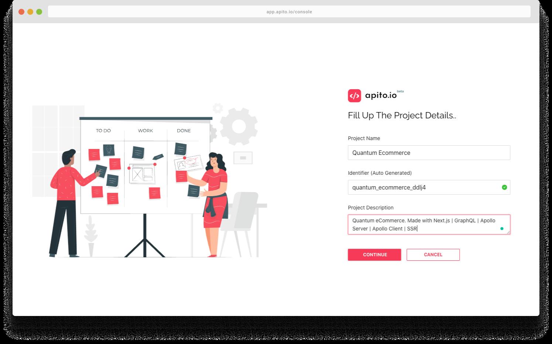 Apito Create a Project