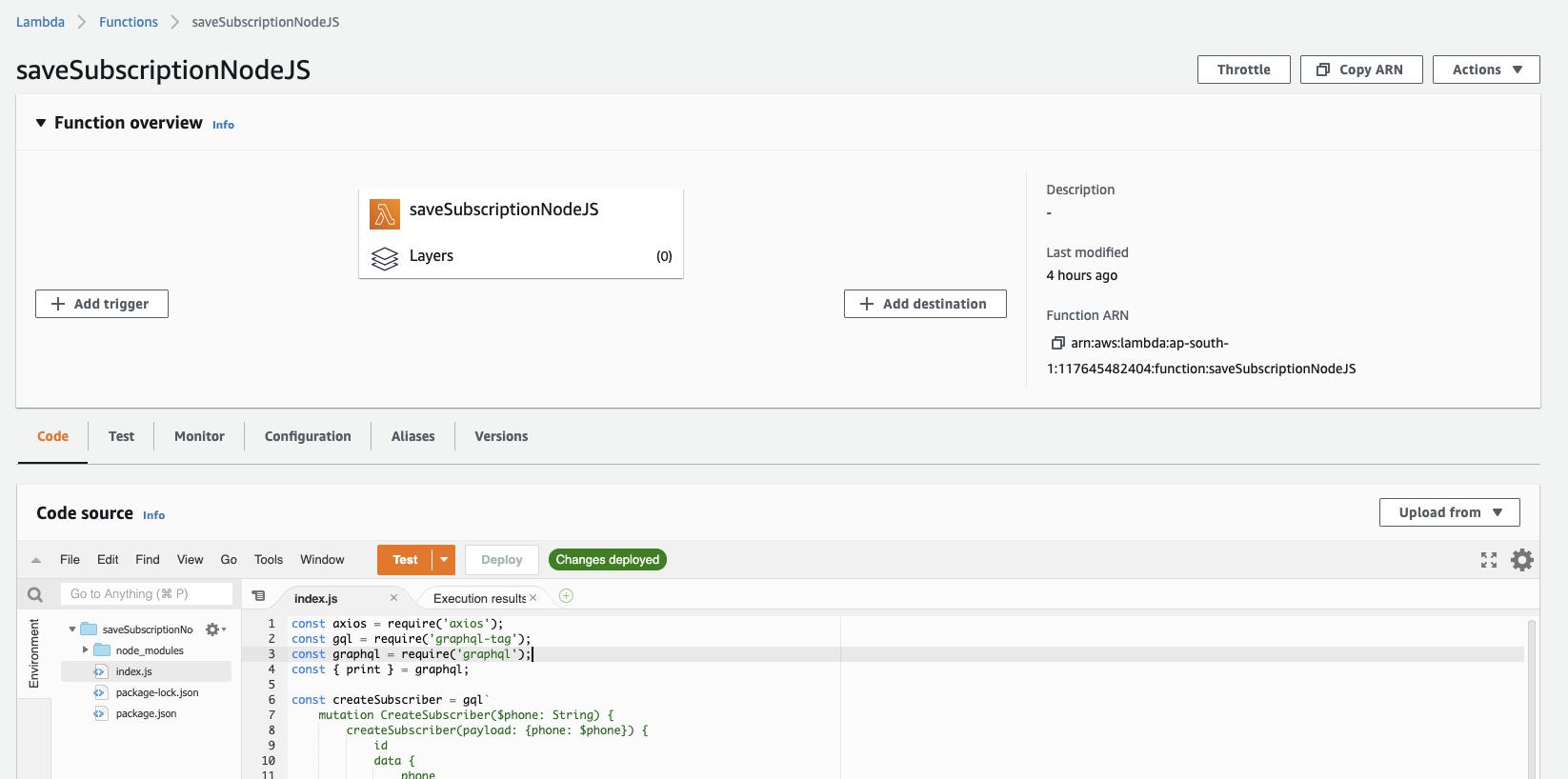 Apito Console - AWS Lambda Configuration